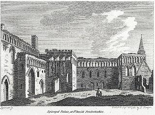 Episcopal palace at St. David's, Pembrokeshire
