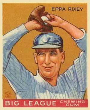 Eppa Rixey - Eppa Rixey 1933 Goudey card.