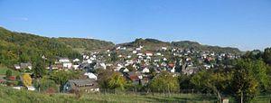Breitscheid, Hesse - Panorama of Erdbach.