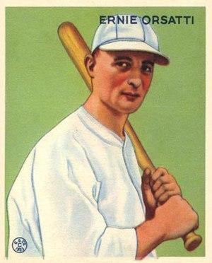 Ernie Orsatti - Ernie Orsatti 1933 Goudey baseball card