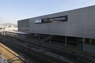 São Cristóvão Station metro station in Rio de Janeiro, Brazil
