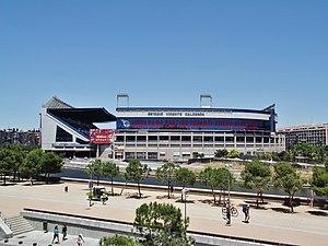 Vicente Calderón Stadium - South external view of the stadium.