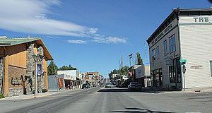 Eureka, Montana - Looking northwest at downtown Eureka on U.S. Route 93
