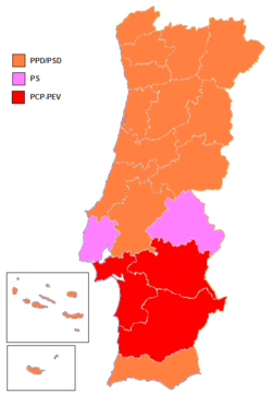 European Parliament Election Portugal Wikipedia - Portugal election map