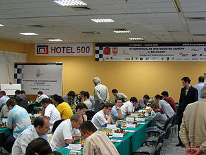 European Individual Chess Championship - View of the tournament hall from the Men's (Zegrze) 2005 event
