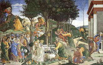 Youth of Moses - Image: Eventos de la vida de Moisés (Sandro Botticelli)