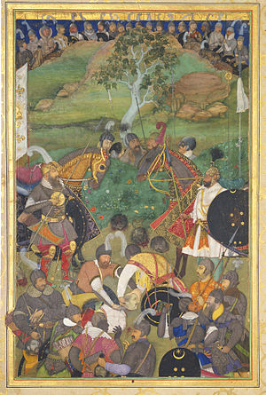 Ahmadnagar Sultanate - Image: Execution Of Lodi And Supporters Padshahnama