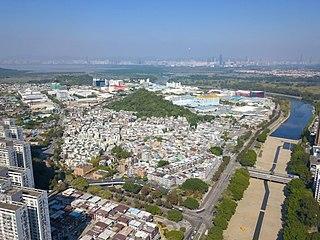 Wang Chau (Yuen Long) Area of Yuen Long District, Hong Kong