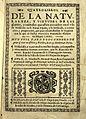 F. Ximenez, Quatre libros de la naturaleza, 1615, title page Wellcome L0014933.jpg