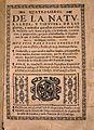 F. Ximenez, Quatro libros de la naturaleza, 1615; title page Wellcome L0021426.jpg