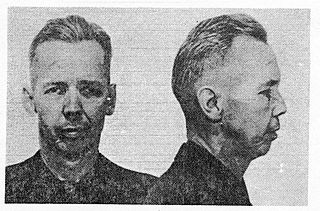 """Fred William Bowerman American bank robber and one of the FBIs """"Ten Most Wanted"""" who led Southwest Bank holdup in 1953."""