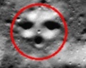 Face on Moon South Pole - The Face on Moon South Pole
