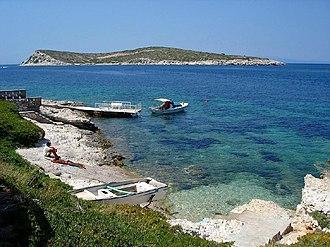 Karaburun - Sahip Island (Büyük Ada) demarcates the small bay of Karaburun, the center town of the district with some of the purest beaches across Turkey
