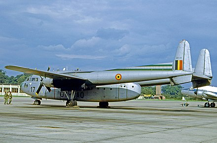 Fairchild C-119G of the Royal Belgian Air Force in 1965 - Fairchild C-119 Flying Boxcar