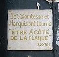 Fake commemorative plaque, 28 rue Molière, Paris 1.jpg