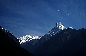 Machapuchare - Image: Falling star machhapuchhre