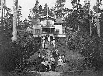 Lilla Essingen - Summer villa on Lilla Essingen, 1867.