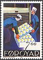 Faroe stamp 191 fish industry - stacking the processed product.jpg