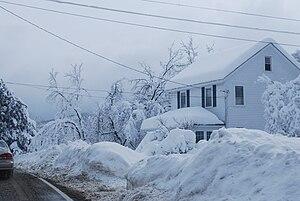 February 25–27, 2010 North American blizzard - Snowfall in Dutchess County, New York on February 26.