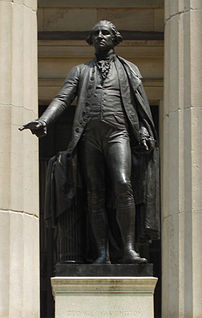 Washington Statue in front of the Federal Hall...
