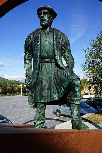 Ferdinand Magellan - Statue in Ponte da Barca, Portugal