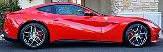 Ferrari F12 - The side profile of the F12berlinetta