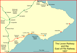 Fife Coast Railway - The Leven Railway and the East of Fife Railway in 1857