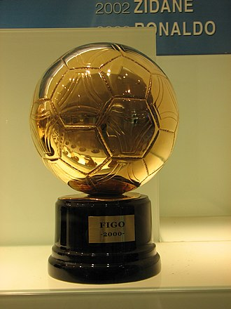 Luís Figo - Figo's 2000 Ballon d'Or. He received the award for his displays throughout the year for Barcelona and then Madrid.