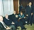 Filmski susreti u Nisu 1997 - Mica Tomic, Ljuba Tadic, Bata Paskaljevic i gradonacelnik Nisa Zoran Zivkovic.jpg