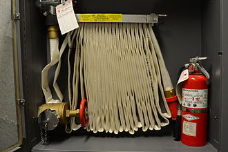 Fire hose - Indoor fire hose with a fire extinguisher