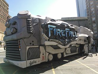 West Coast Customs - The Firefall promotional bus makes its debut appearance at Anime Expo 2012