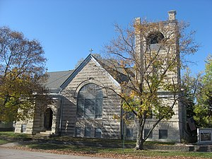 National Register of Historic Places listings in Clark County, Illinois - Image: First Congregational Church in Marshall