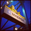 First Daily Maersk container arriving in Felixstowe (7101141159).jpg