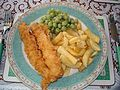 Fish, chips & mushy peas.JPG