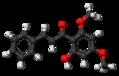 Flavokavain B molecule ball.png