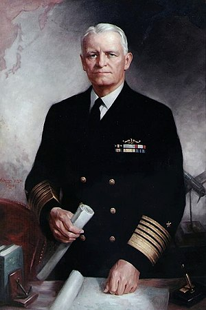 Chester W. Nimitz - Portrait of Fleet Admiral Chester W. Nimitz