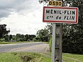 Flin (M-et-M) city limit sign Ménil-Flin.jpg