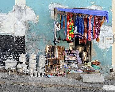 Shop in São Filipe, island of Fogo, Cape Verde.