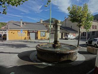 Barrême - Fountain in the Church Square