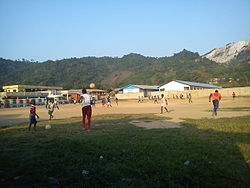Football field in Obuasi