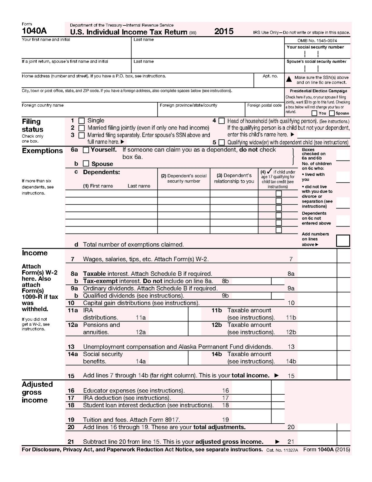 Fileform 1040a 2015pdf wikimedia commons fileform 1040a 2015pdf falaconquin