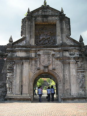 Fort Santiago - The reconstructed main gate of Fort Santiago