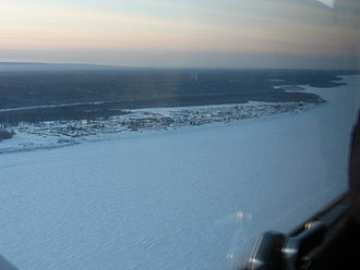 Fort Simpson - Image: Fort Simpson from the air