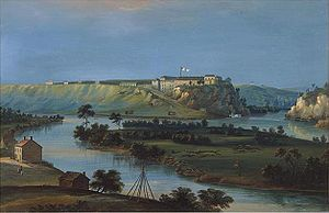 English: Fort Snelling confluence of the Missi...