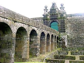 Siege of São Filipe - Image: Fortaleza de São João Baptista, Monte Brasil, ilha Terceira, Açores, Porta de Armas