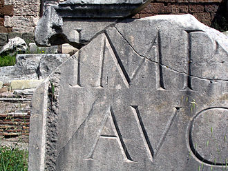 Sans-serif - Roman square capitals, the inspiration of serif lettering.