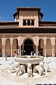 Fountain in Patio de los Leones, Alhambra, low angle, 16.08.14.jpg