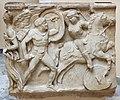 Frammento di sarcofago con amazonomachia, da tipi attici, 150 dc ca. 02.JPG