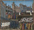 Français 5594, fol. 213 haut, Richard Coeur de Lion massacrant les prisonniers musulmans.jpeg