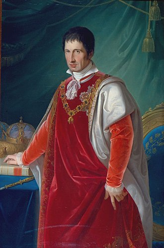 Francis IV, Duke of Modena - Portrait by Adeodato Malatesta, 1831